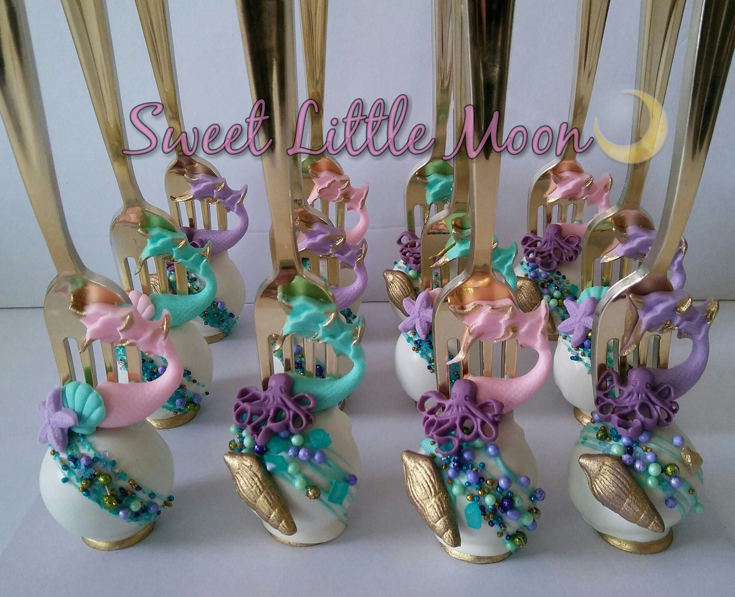 Under The Sea Mermaid Birthday Party-Purple, Pink, Aqua and Gold Color Theme