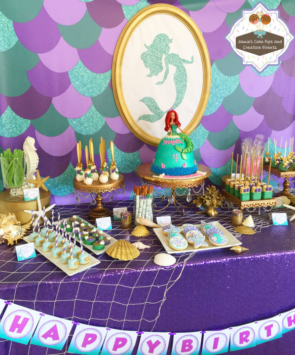 The Little Mermaid Chocolate Covered Oreos-The Little Mermaid Birthday Party Cookies. TheIcedSugarCookie.com Jamie's Cake Pops
