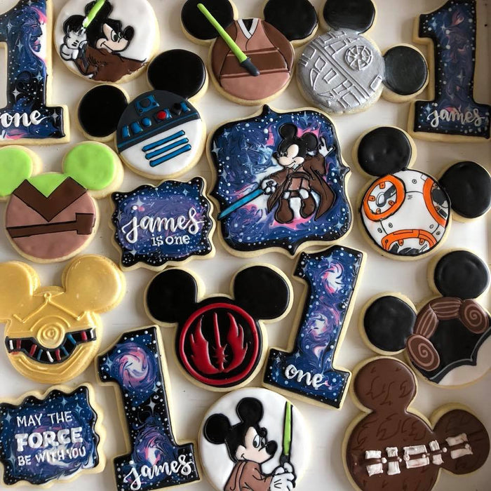 "Mickey Mouse ""Disney Star Wars Galaxy"" Iced Sugar Cookies"