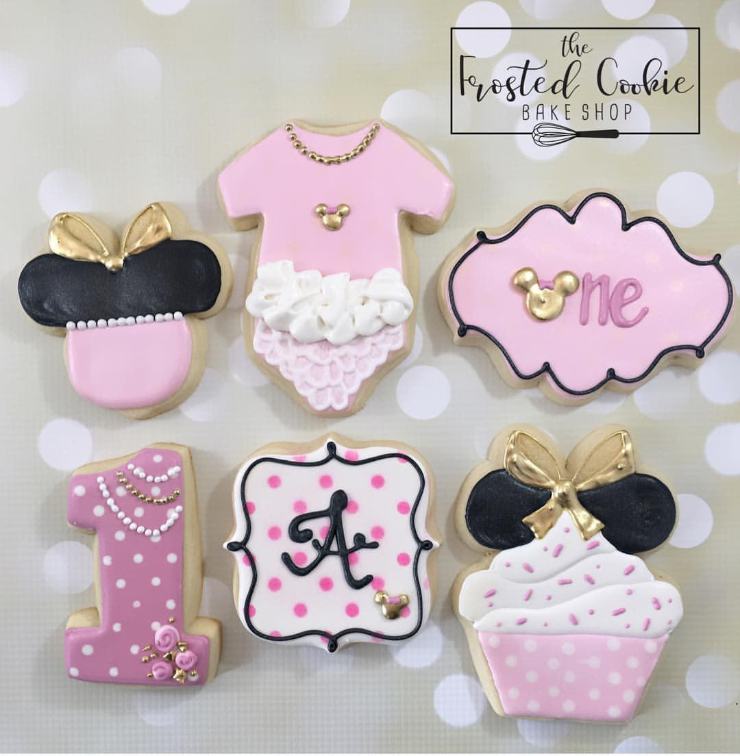 Minnie Mouse 1st Birthday Party Sugar Cookies