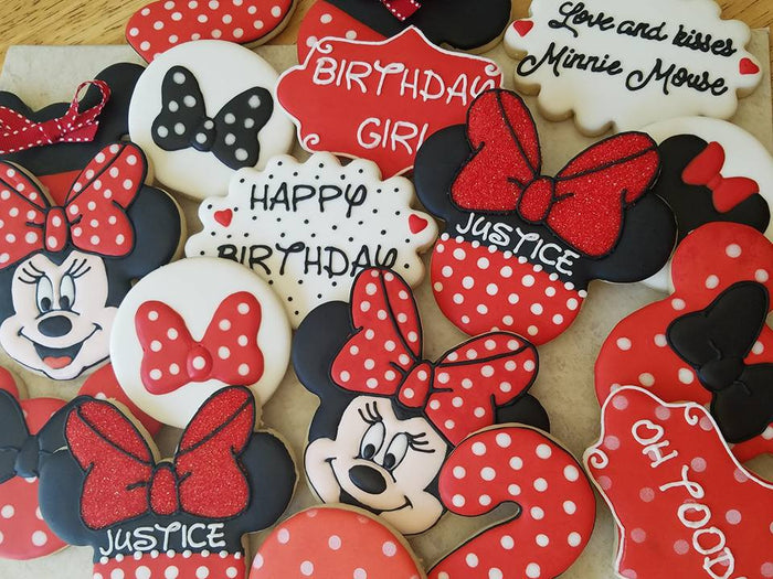 Minnie Mouse 2nd Birthday Party Sugar Cookies