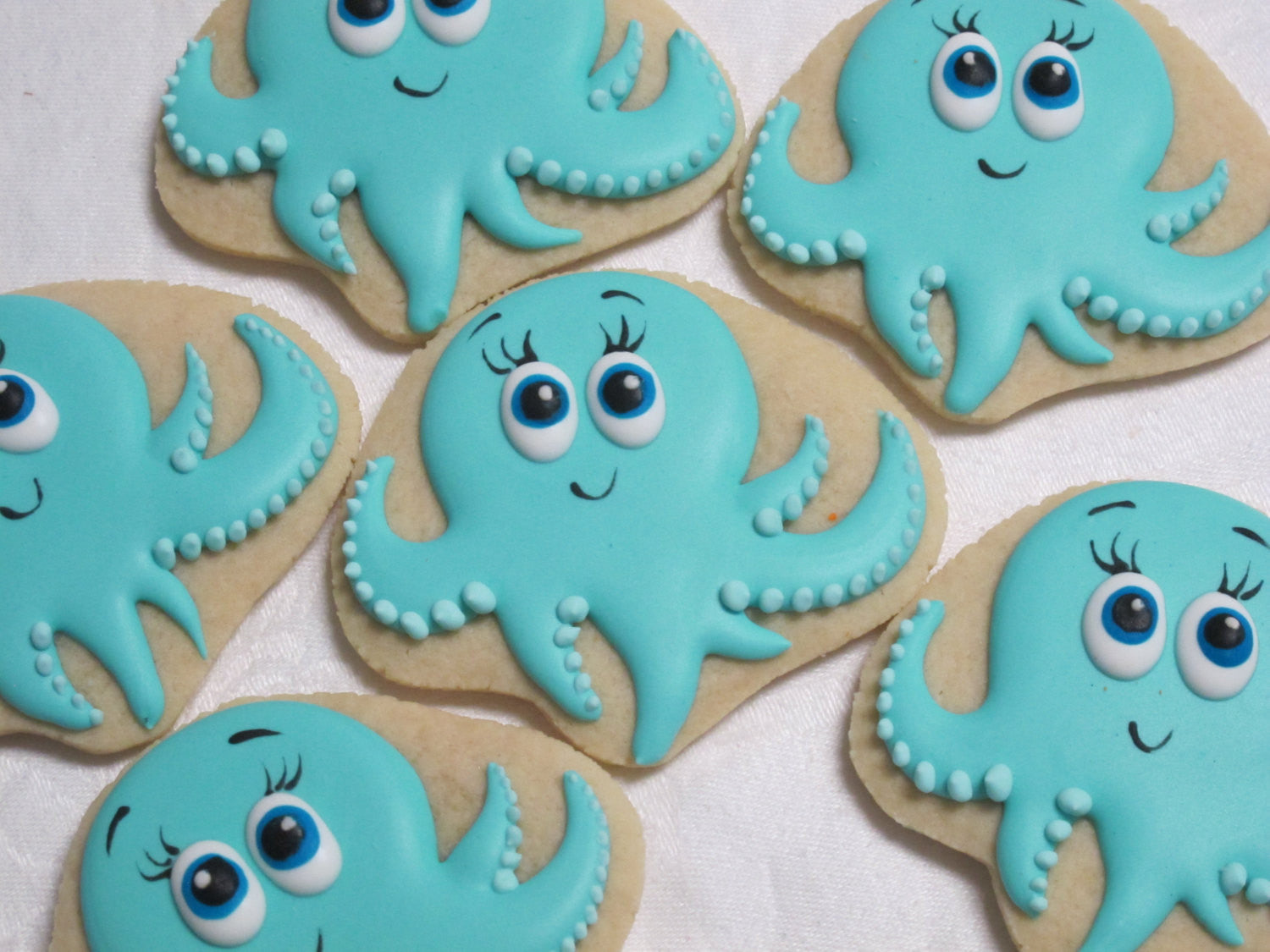 Octopus Birthday Party Cookies. Mermaid Under The Sea Party Cookies. TheIcedSugarCookie.com Marta's Cakes and Cookies