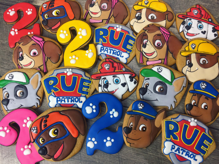 Paw Patrol Birthday Party Sugar Cookies TheIcedSugarCookie.com Tale Cookies
