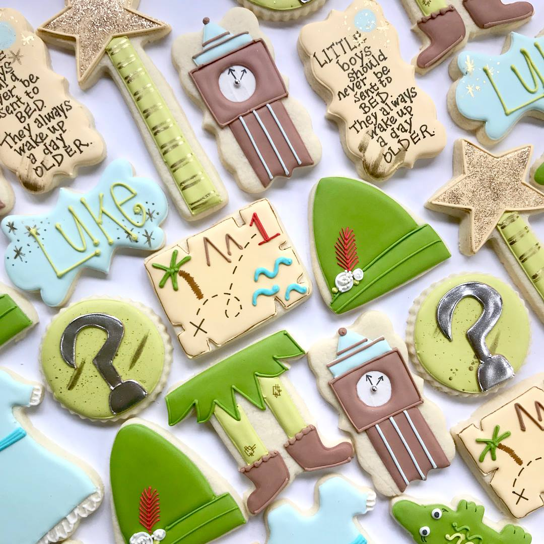 Peter Pan Birthday Party Iced Sugar Cookies
