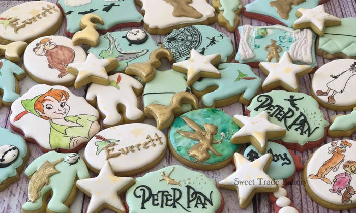 Peter Pan Baby Shower Sugar Cookies TheIcedSugarCookie.com Sweet Trade Bakery