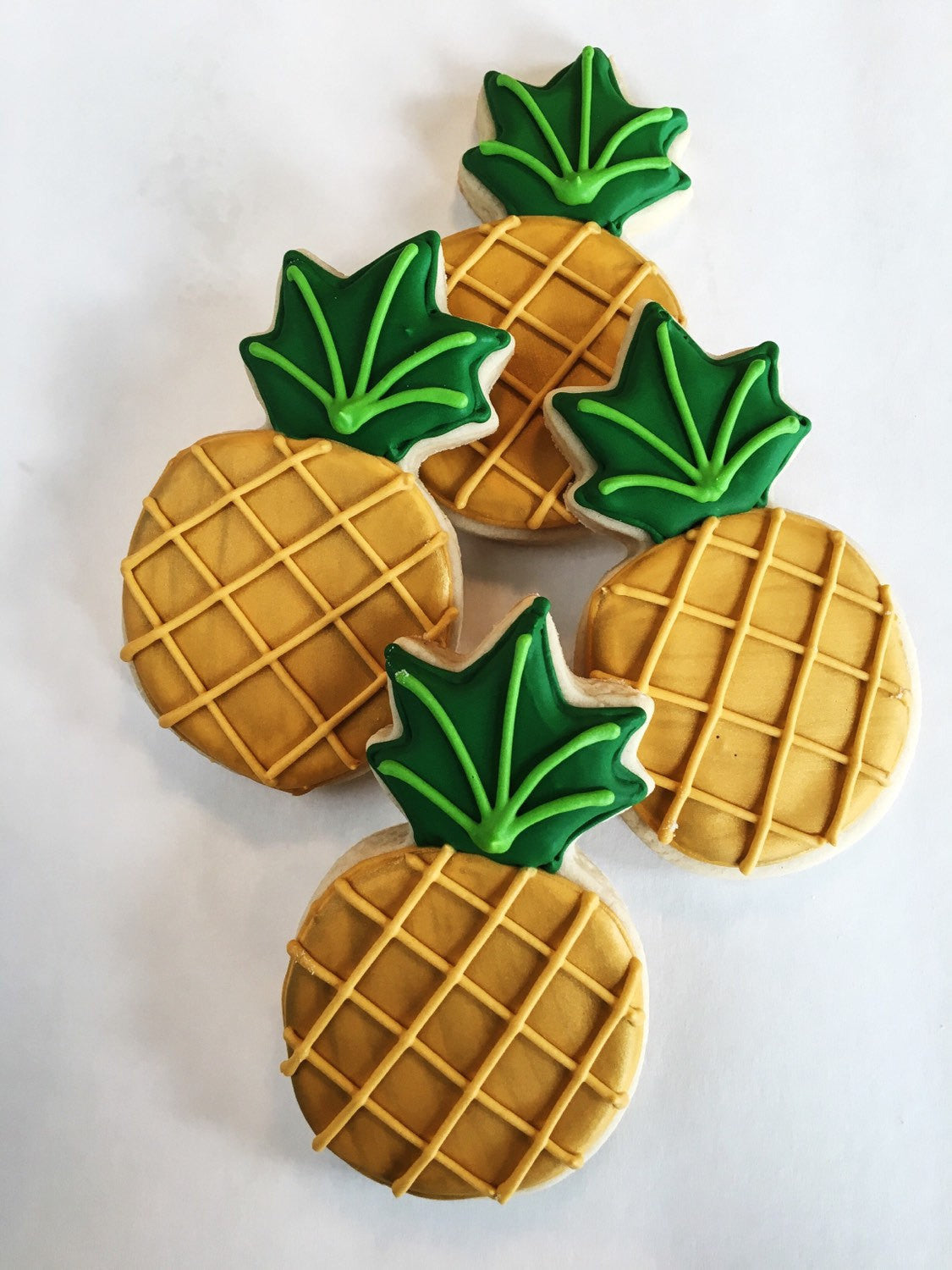 Pineapple Birthday Party Sugar Cookies The Iced Sugar Cookie Super Chic Design
