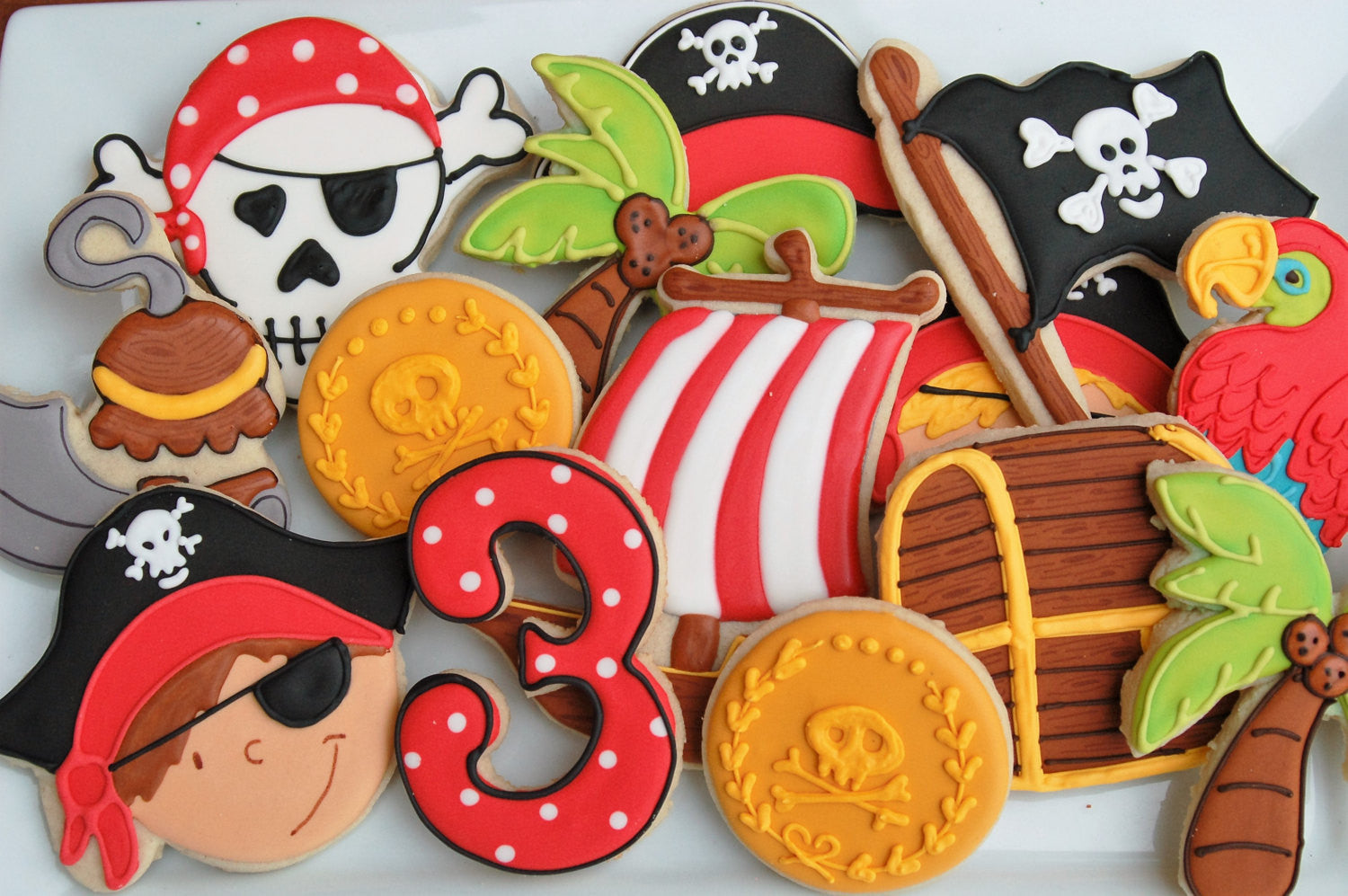 Pirate Birthday Party Sugar Cookies