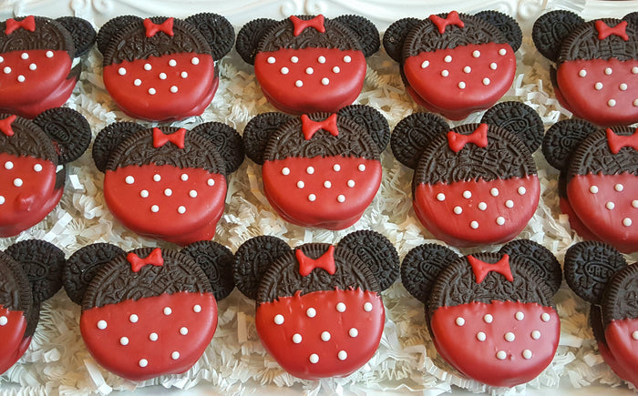 Red Minnie Mouse Birthday Party Oreo Cookies