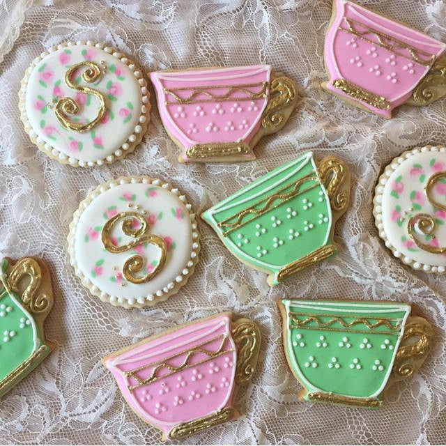 Fancy Tea Party Birthday Party Sugar Cookies