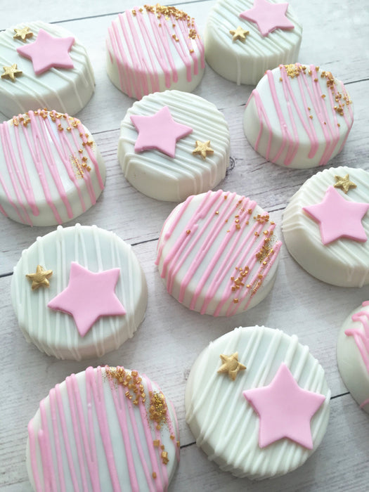Twinkle Twinkle Little Star Birthday Party Cookies-Chocolate Covered Oreos