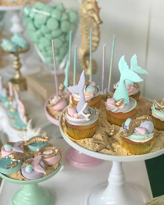 "Under The Sea Mermaid Birthday Party by ""Taartje van Lot"" featured on TheIcedSugarCookie.com #undertheseaparty #mermaidparty #theicedsugarcookie #underthesea #mermaid #partyideas"