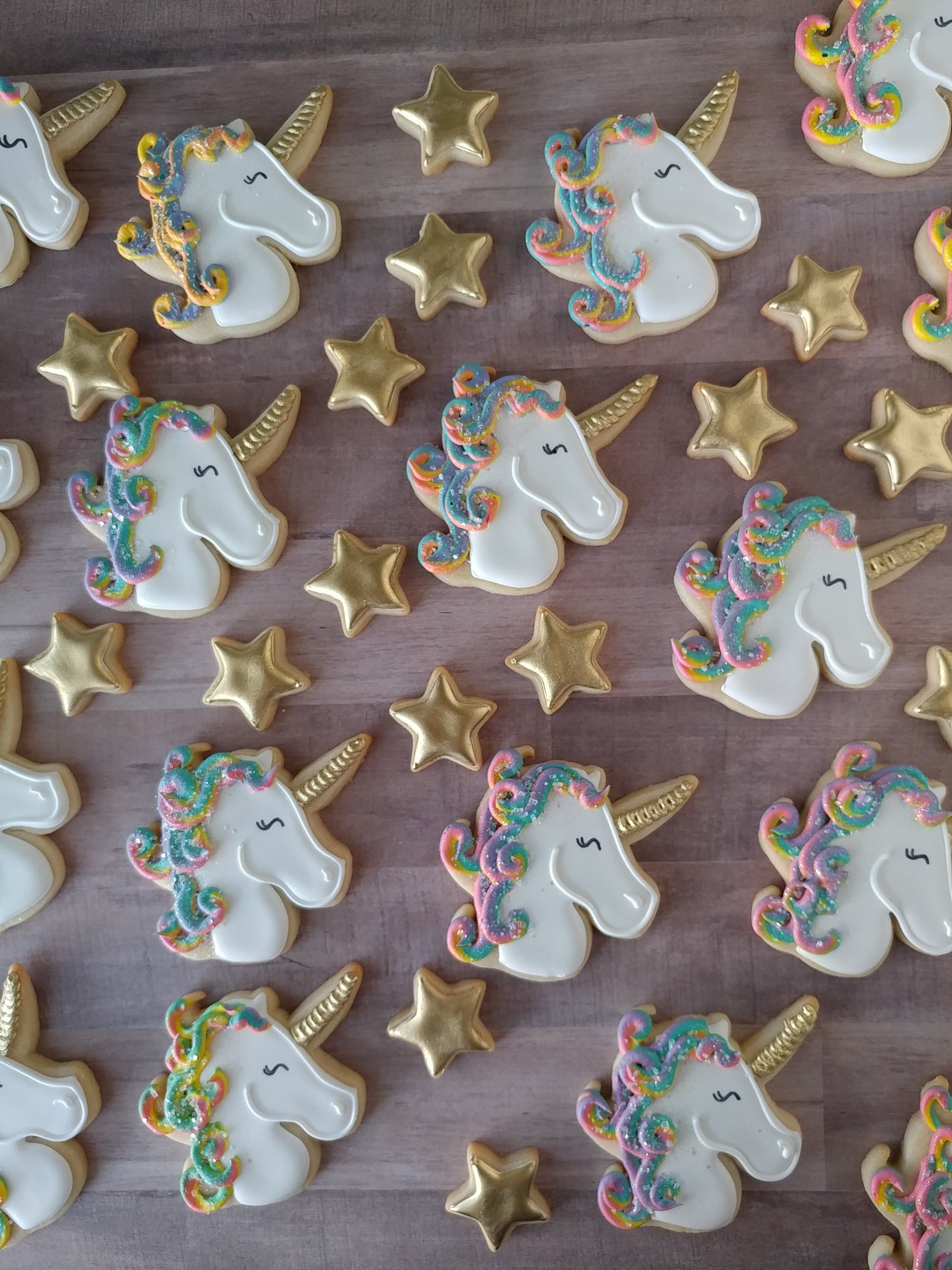 Charming Unicorn Birthday Party Sugar Cookies