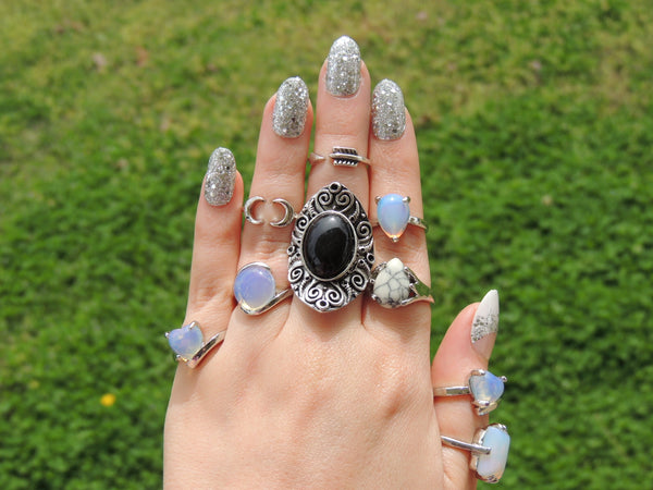 Coachella Rings- Midi Rings- Fashion Statement Rings- Tribal, Boho, Hipster, Hippie