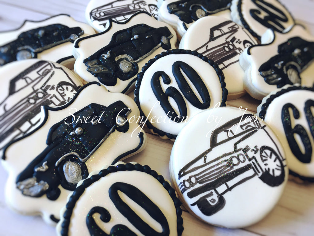 1967 Chevrolet Chevelle Birthday Party Cookies-Chevy Cookies-Classic Car Party TheIcedSugarCookie.com Sweet Confections By Jess