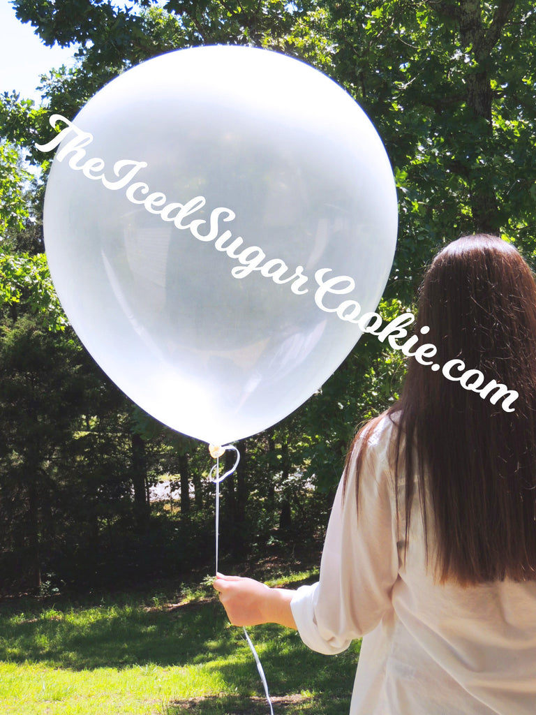 36 Inch Giant Transparent Balloons TheIcedSugarCookie.com