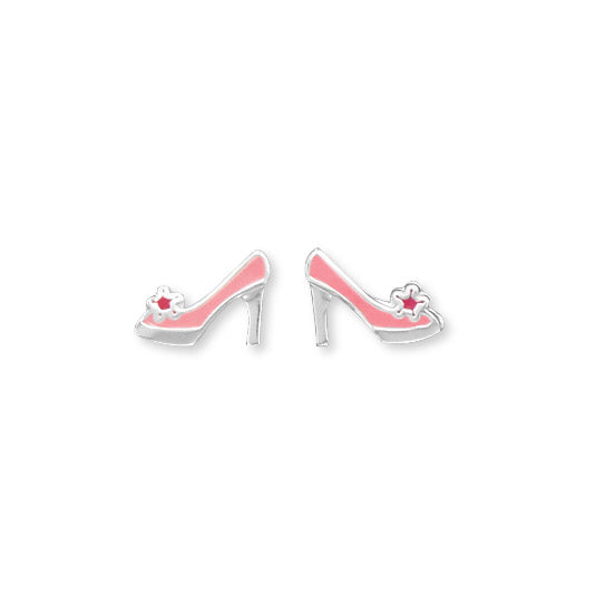 .925 Sterling Silver High Heels Stud Earrings by The Iced Sugar Cookie fashion jewelry summer princes pink cute
