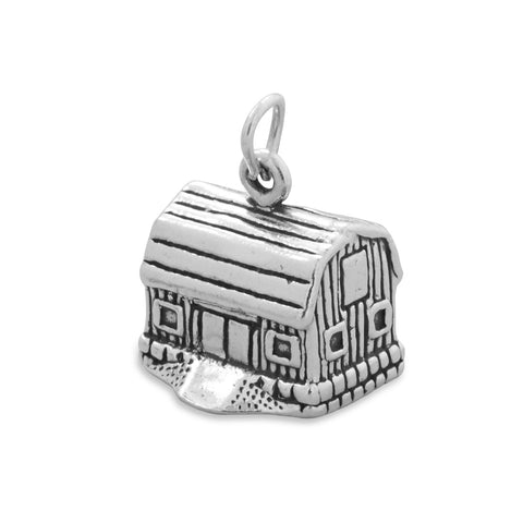 "Barn ""In The Garden"" Jewelry Charm By The Iced Sugar Cookie"