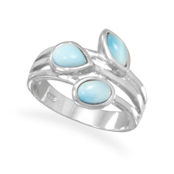 .925 Sterling Silver Larimar MultiShape Ring by The Iced Sugar Cookie