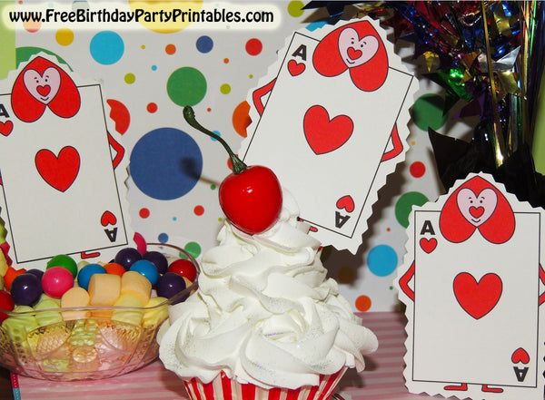 Alice In Wonderland Free Birthday Party Printables- Printable Queens Card Soldiers Cutouts
