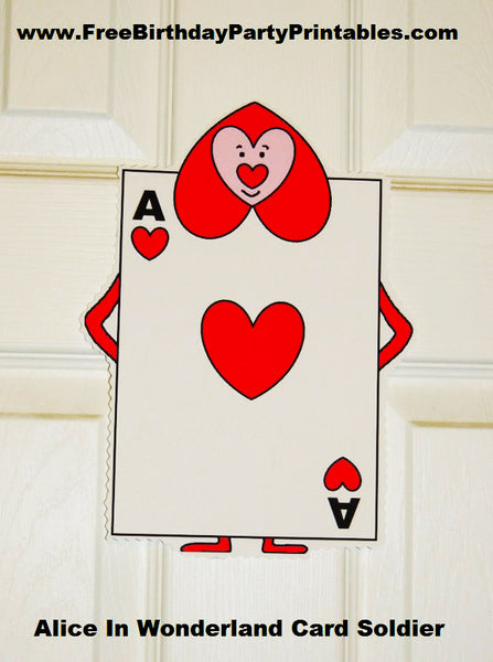 alice in wonderland card soldiers template - alice in wonderland heart cards pictures to pin on