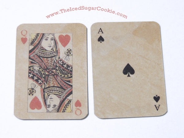 Alice In Wonderland Playing Cards DIY Necklace Charms Bracelets Do it yourself Crafts The Iced Sugar Cookie