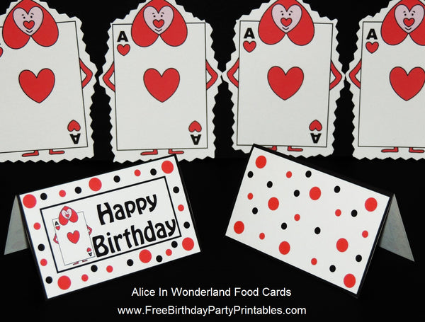 Queens Playing Cards Soldiers Printable Template Color Cupcake Toppers or Banner- Free Alice In Wonderland Birthday Party Printables
