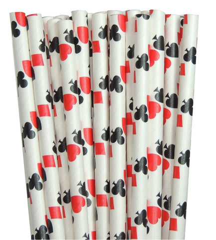 Alice's Adventures In Wonderland Paper Straws-Based on the 1865 Novel TheIcedSugarCookie.com Playing Cards Paper straws