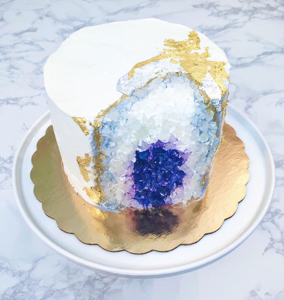 Geode Wedding Day Cake Geode Birthday Party Cake The Iced Sugar Cookie