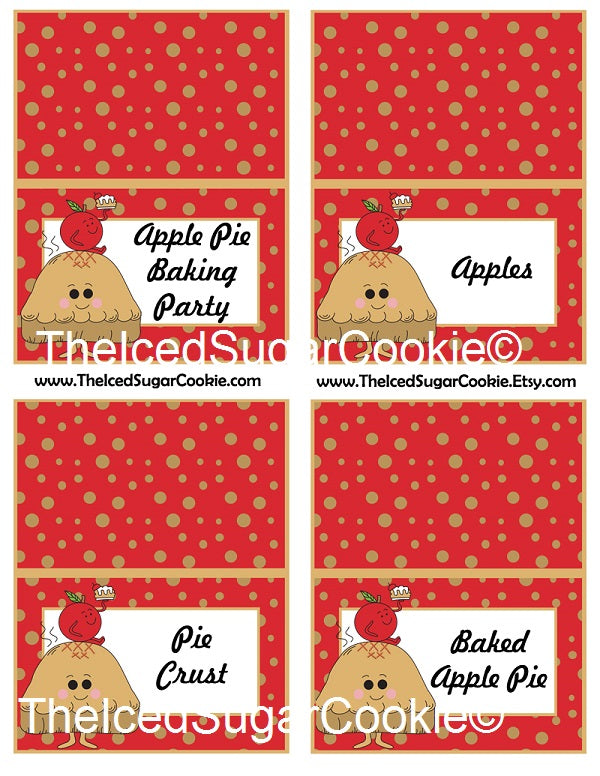 graphic relating to Apples to Apples Cards Printable known as Apple Pie Baking Get together Food items Playing cards
