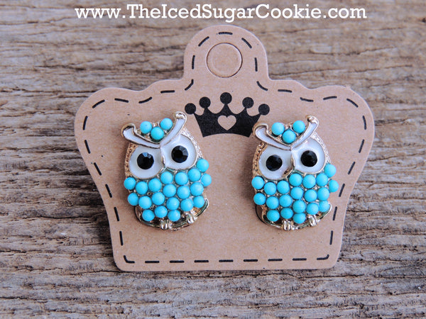 Blue Owl Beaded Earrings The Iced Sugar Cookie Jewelry Store Girls Women Summer Spring 2016 Fashion Style