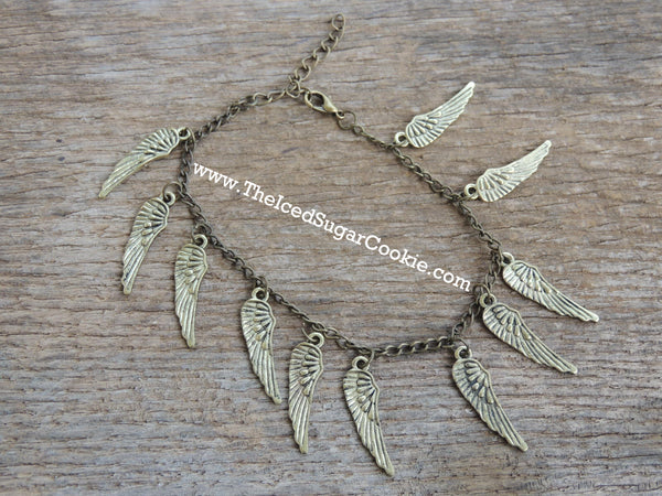 Angel Wing Boho Tribal Hipster Bohemian Boho Chic Ankle Bracelet The Iced Sugar Cookie Fashion Style Bohemian Hipster Hippie Woman Girls