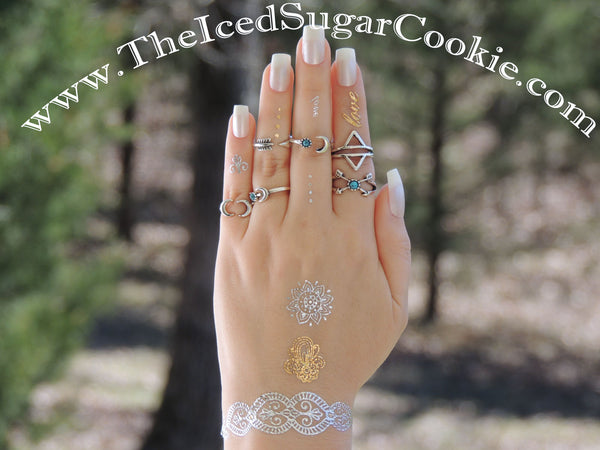 Boho Midi and Knuckle Rings Coachella Rings Bohemian Tribal Hippy Hipster Beach Turquoise Arrow Moon The Iced Sugar Cookie