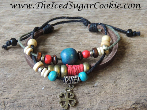Clover Faux Leather Bracelets by The Iced Sugar Cookie