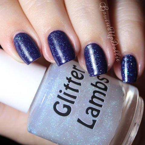"Glitter Lambs ""Sun Dazzler Glaze"" Nail Polish. www.TheIcedSugarCookie.com Custom handmade nail polishes for your nails. #nails"
