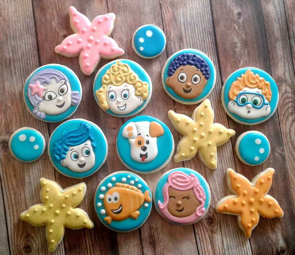 Bubble Guppies Birthday Party Sugar Cookies TheIcedSugarCookie.com Sweet Sugarlicious