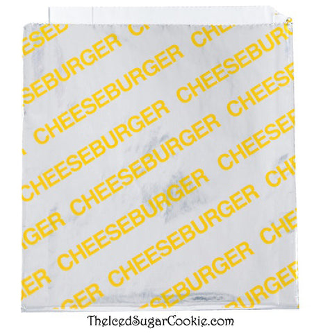 Circus, Fair, Carnival Birthday Party Food Wrappers and Supplies, Popcorn Bags, Cheeseburger Wrappers,