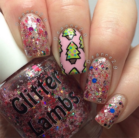 "Glitter Lambs ""Christmas Jelly Roll"" Nail Polish. www.TheIcedSugarCookie.com Holiday Nail Polish for your Nails! #nails"