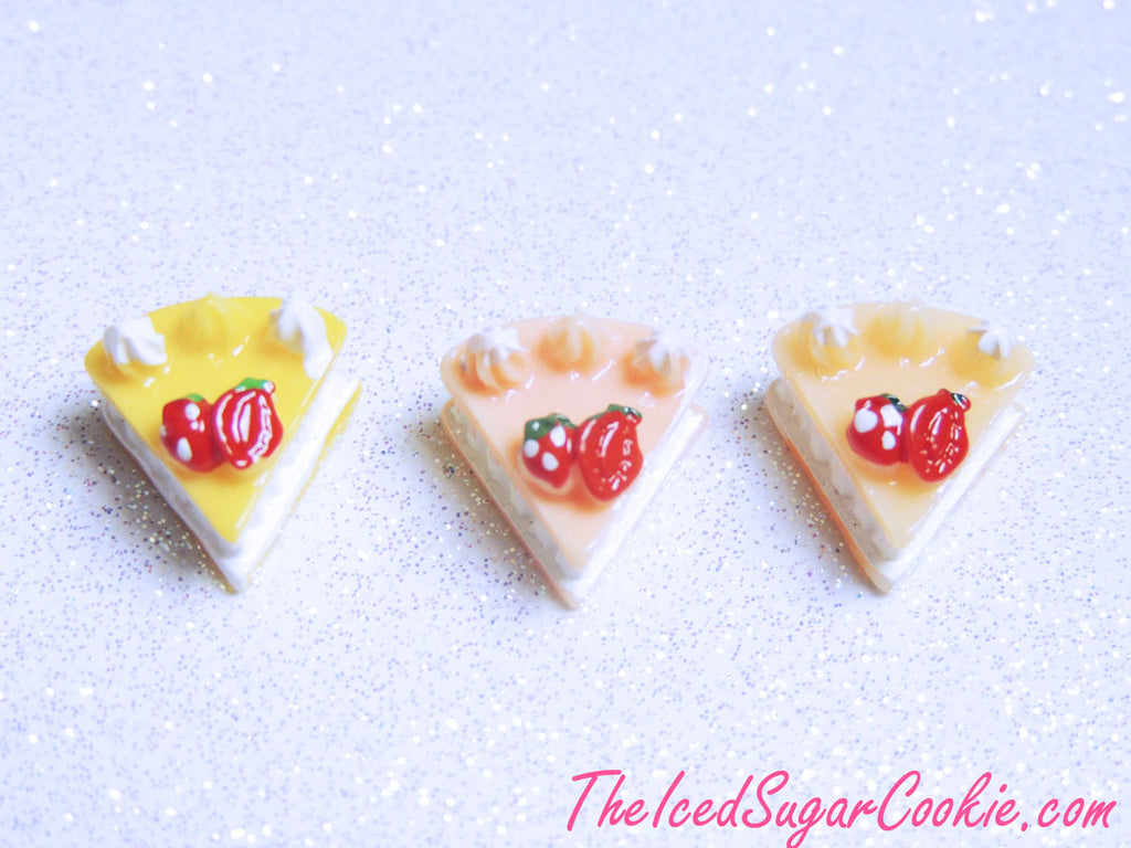 Kawaii Cabochons Miniatures Banana Cream Pie, Peach Pie, Creamsicle Pie, Decoden Supplies DIY Crafts Dessert Cakes Sweets Doll House Kit-TheIcedSugarCookie.com