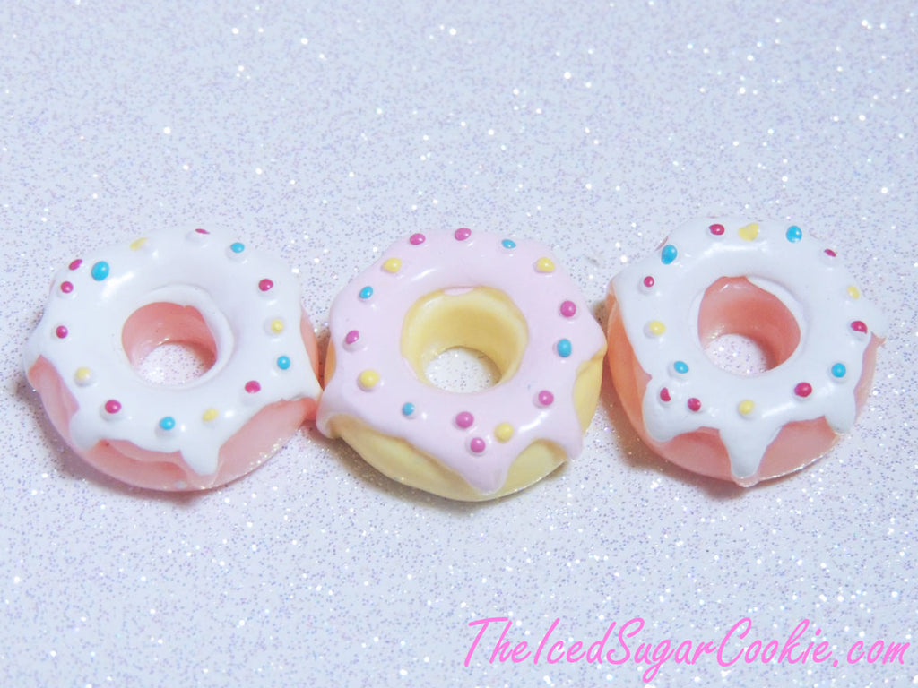Fake Donuts Donut Cabochons Doughnut Miniatures Plastic Donuts Mini Donuts Doll House