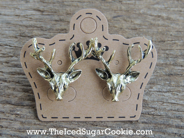 Deer Lover Earrings The Iced Sugar Cookie Jewelry store Shop Wild life nature animal cute boho bohemian tribal