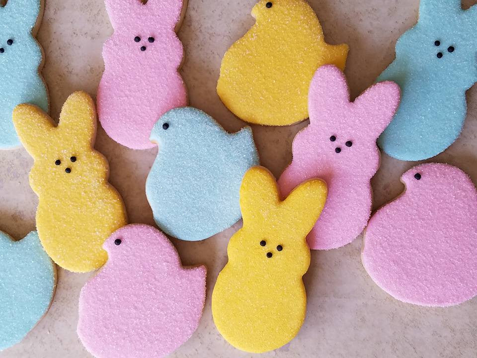 Easter Peep Sugar Cookies-Bunnies And Chicks That Are PEEPTastic TheIcedSugarCookie.com Decadent Desserts ABQ