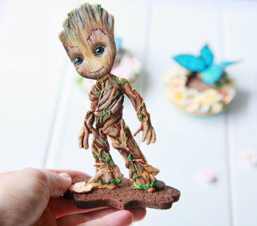 Guardians Of The Galaxy Groot And Rocket The Raccoon Sugar Cookies TheIcedSugarCookie.com Sugart_Jeanne