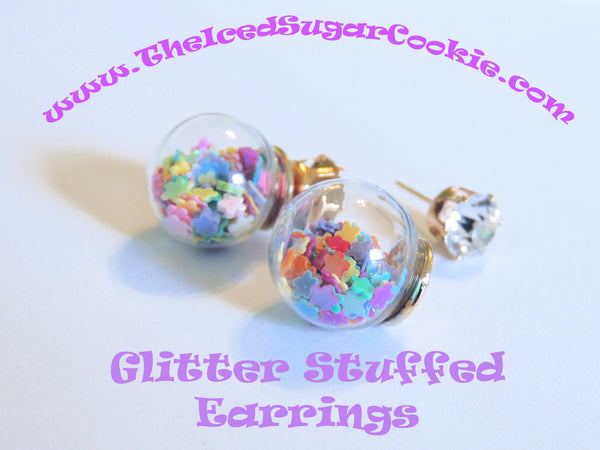 Glitter Stuffed Heart Stars Flowers Shapes Earrings Spring Summer 2016 Collection The Iced Sugar Cookie