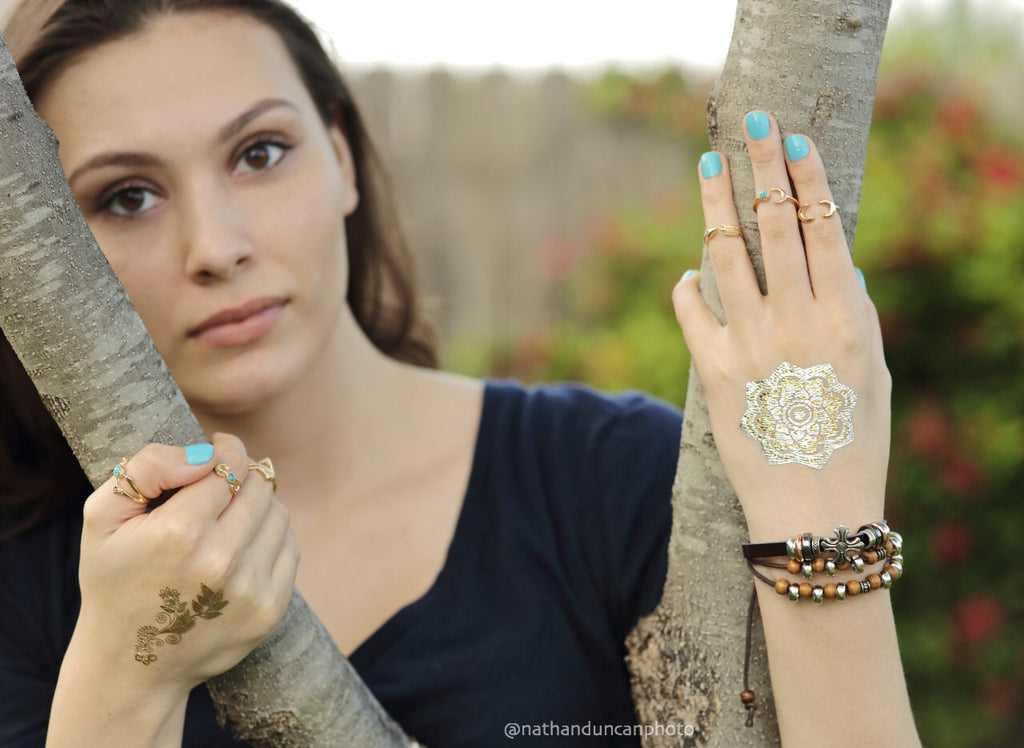 Boho Bracelets- Bohemian Bracelets Beaded Teal Faux Leather Bracelets by The Iced Sugar Cookie- Jewelry Fashion Style Tribal Hipster Tumblr Photo by Nathan Duncan Photo Model Paula