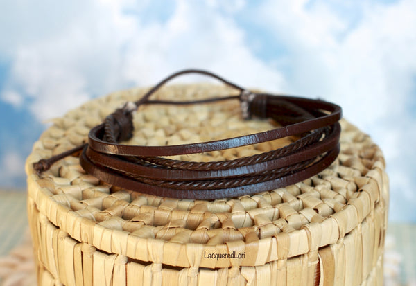 Faux Brown Leather Bracelet by The Iced Sugar Cookie Photo by LacqueredLori Fashion Bracelets Style Cute Hipster Tumblr Tribal Coachella Boho Chic Bohemian Accessories Bracelet