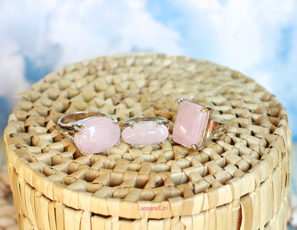 Pink Sugary Lemonade Rings by The Iced Sugar Cookie PHoto by LacqueredLori Fashion Jewelry and Rings