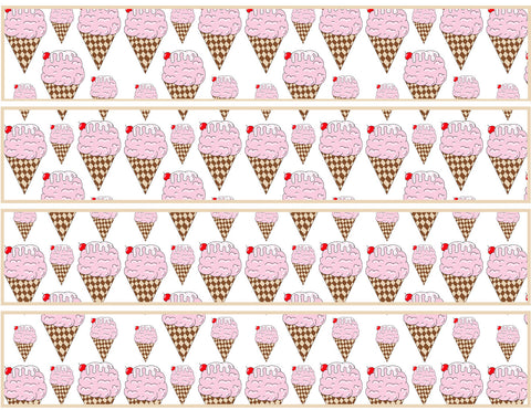 Ice Cream Birthday Party Free Printable Template Pattern Cutout Water Bottle Template by The Iced Sugar Cookie