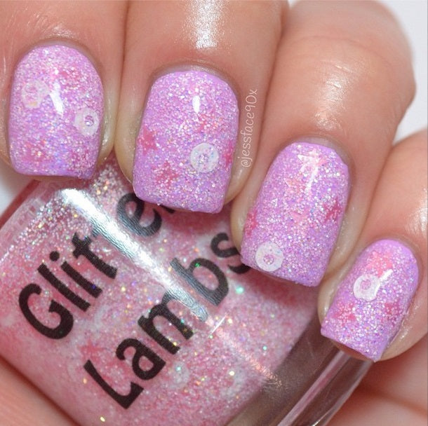 "Glitter Lambs ""Frosted Reindeer Food"" Nail Polish. www.TheIcedSugarCookie.com Christmas Holiday Nail Polishes for your nails. #nails"