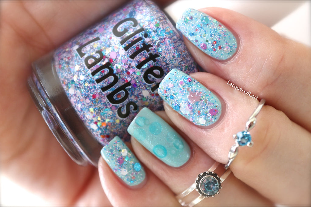 Piggy Bubble Bath Nail Polish by Glitter Lambs. www.TheIcedSugarCookie.com Handmade Custom Nail Polishes for your nails. #nails
