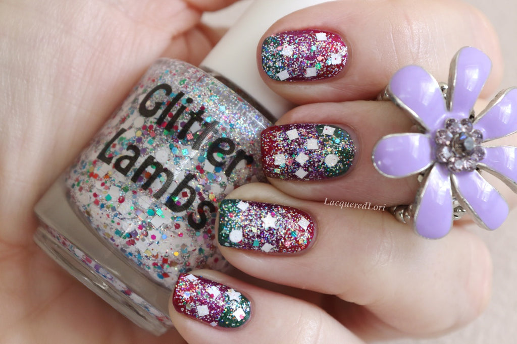 Unicorns Love Sugar Cubes Nail Polish by Glitter Lambs. www.TheIcedSugarCookie.com